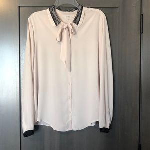 Blush button up blouse from loft